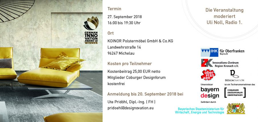 Veranstaltung am 27. September 2018 - DESIGNOVATION